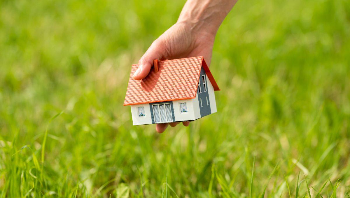 Haus Bau im Grünen